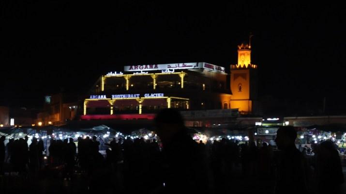 Das berühmte Café Argana in Marrakesch