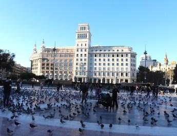 Praça de Catalunya in Barcelona