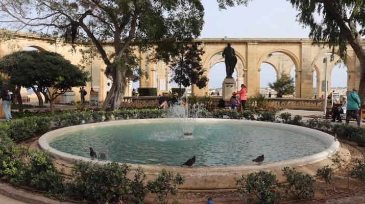 Springbrunnen in den Upper Barrakka Gardens