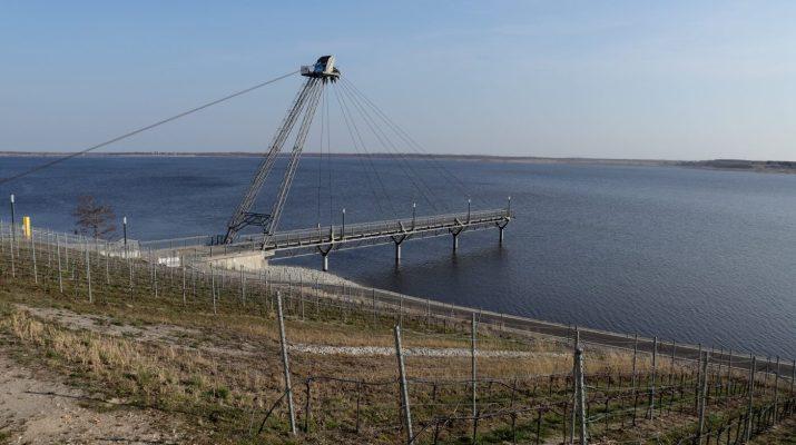 Die Seebrücke ist ein Relikt aus Tagebauzeiten