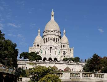 Die Kirche Sacré-Coeur auf dem Montmartre