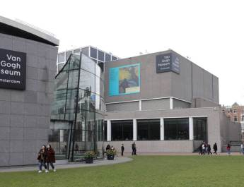 Die beiden Häuser des Van Gogh Museums in Amsterdam.