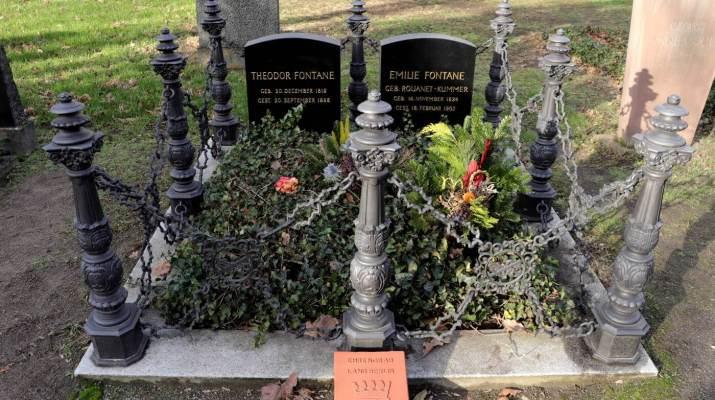 Das Grab von Theodor Fontane und seiner Frau Emilie