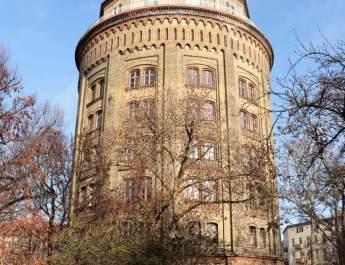 Der Wasserturm in Prenzlauer Berg ist ein Wahrzeichen des Bezirks