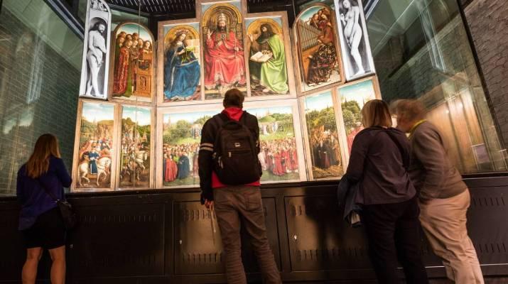 Der berühmte Genter Altar von Jan und Hubert van Eyck