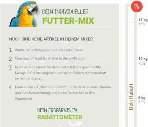 Vogelfutter kaufen Mixerama
