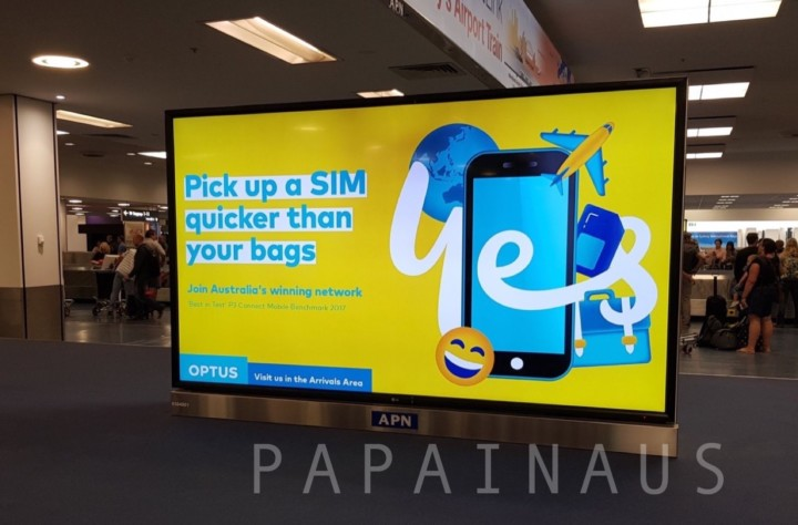 シドニー空港SIM