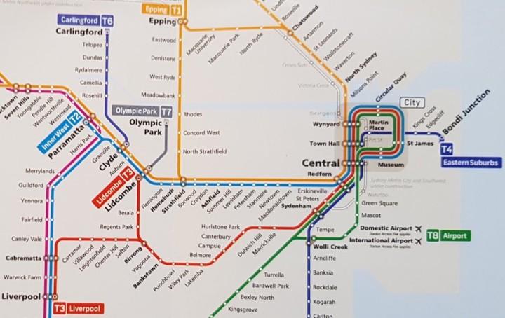 シドニー路線図