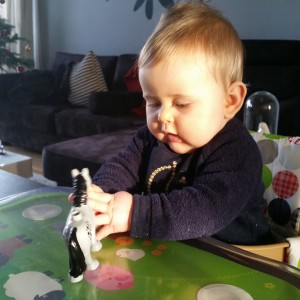 Mirthe in de kinderstoel