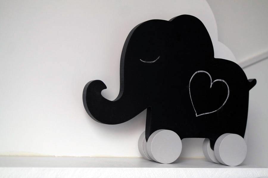 Krijtbord-olifant