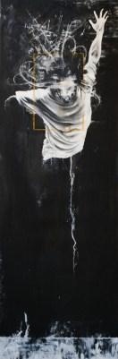 'Atlas II', Oil on canvas, 200cm.X66cm., 2011
