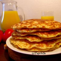 Pancakes cu cașcaval și șuncă...