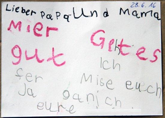 Postkarte der Tochter