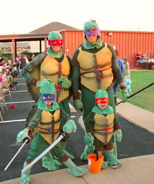 déguisement halloween famille les tortues ninja - Papa Panique