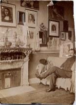 1899 - Nicolas GHIKA dans l'atelier de Théodore Pallady à Paris