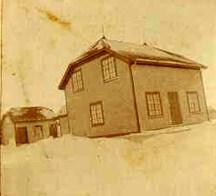 La maison en hiver à Port-Menier sur l'île d'Anticosti