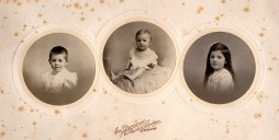 1911 - Famille Maurice LANDRIEU (16) - Lucien (162) - Henri (163) - Geneviève (161)