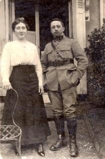 27 janvier 1918 - Lucie (421) et Robert LANDRIEU (422)
