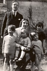 1931 - Au Vésinet - Max (441) - Monique (x 441) - Micheline (4411) - Claude (4412) - Jean-Marie (4414) - Bernard (4413)