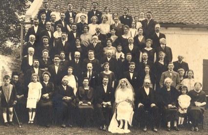 12 Juin 1925 - Mariage Michel LANDRIEU (171) et Noémie POYER - Sainte-Austreberthe (62)