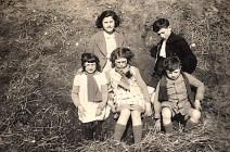 1940 - Jacqueline, Bernard LANDRIEU, D. Sagot, Nicole, Max LANDRIEU