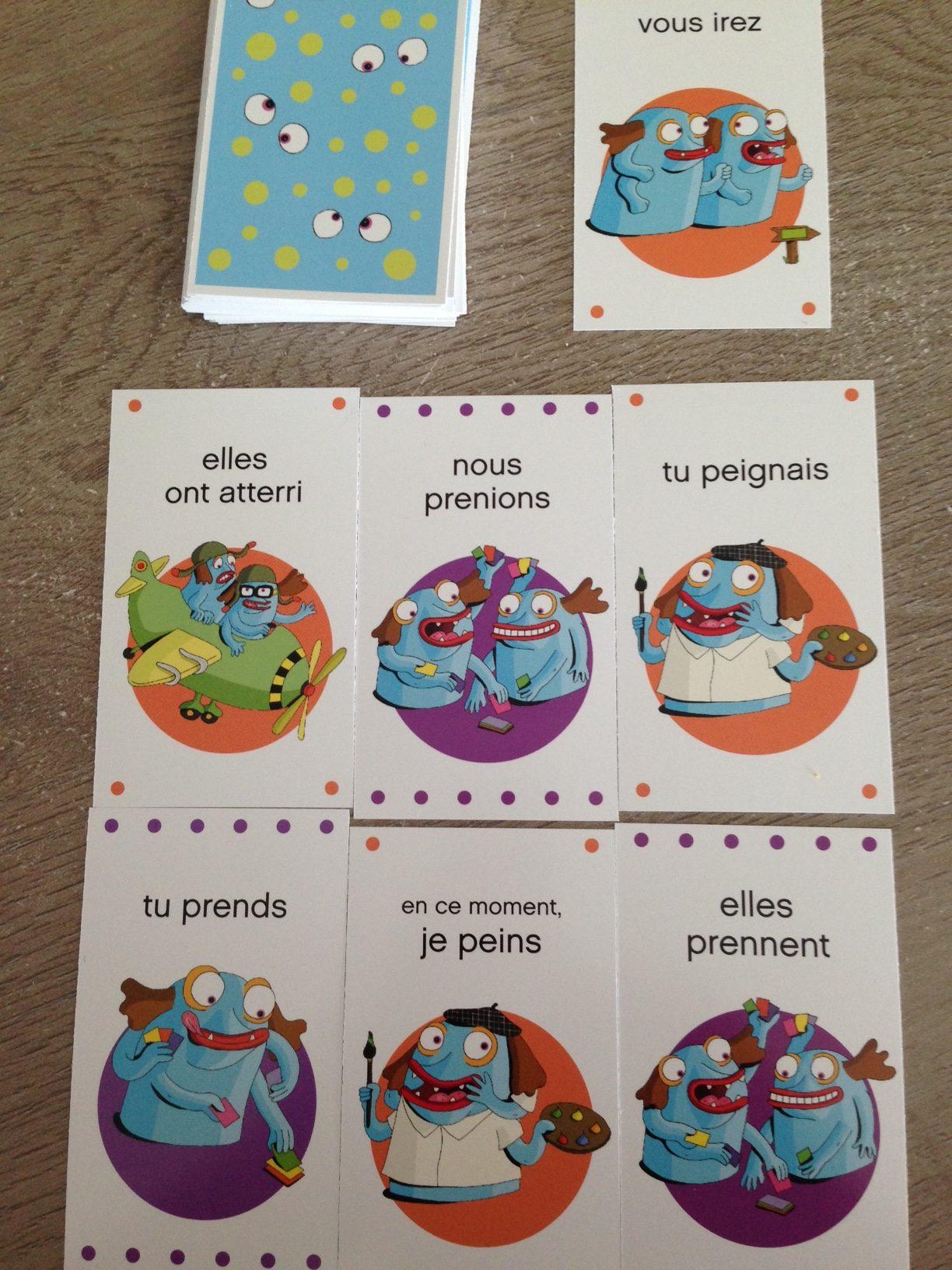 Apprendre La Conjugaison En S'amusant : apprendre, conjugaison, s'amusant, Conjugaison, Cartes, Apprendre, S'amusant