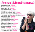 Are you high Maintenance party game