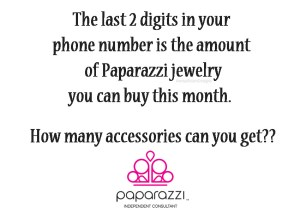 phone number game - Paparazzi jewelry party games