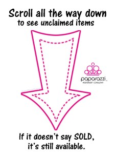scroll down for unclaimed items - Paparazzi jewelry party images