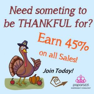 Need something to be thankful for - try Paparazzi Jewelry