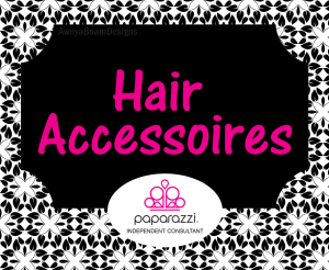 hair accessories black and white Paparazzi jewelry album cover