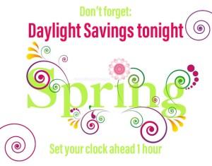 daylight savings time - spring