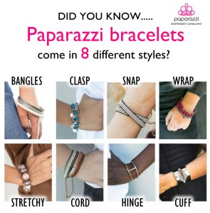 did you know Paparazzi has 8 different kinds of bracelets