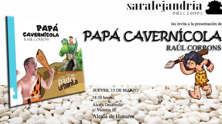 Flyer presentación libro de Papá Cavernícola