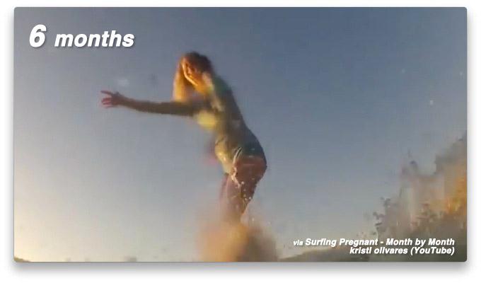 妊婦さんのサーフィン 月別映像(Surfing Pregnant - Month by Month)