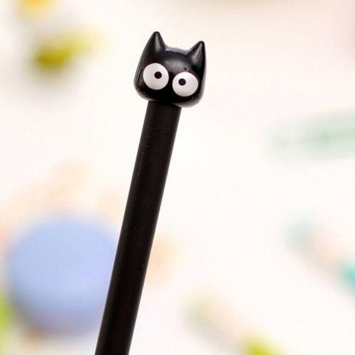 Bolígrafo de punta fina gato negro