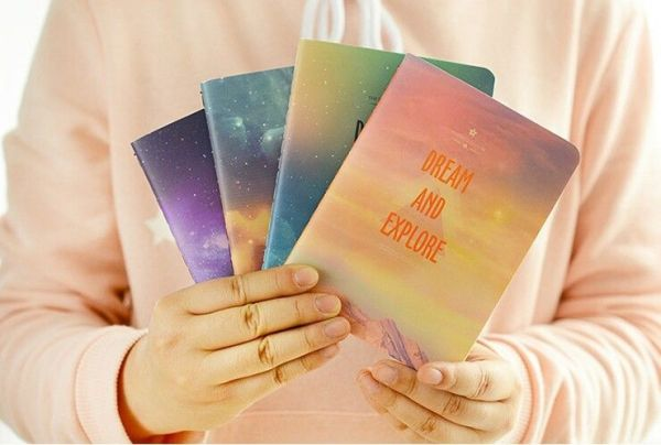 Cuadernos galaxia A6 líneas horizontales