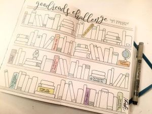 Bullet journal registro de libros