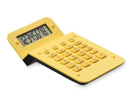 Calculadora zigzag amarilla