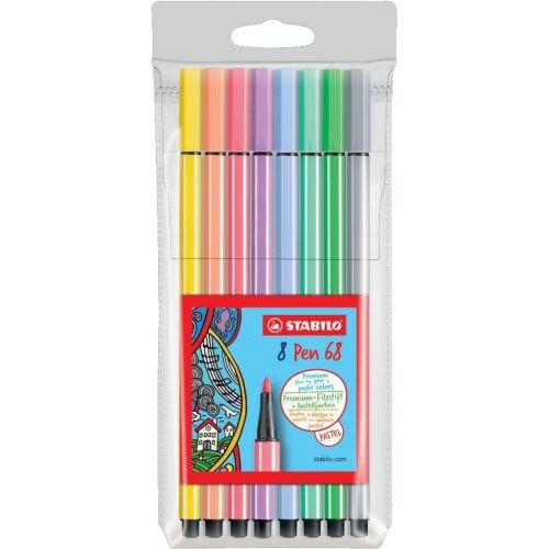 Rotuladores Stabilo pastel Pen 68