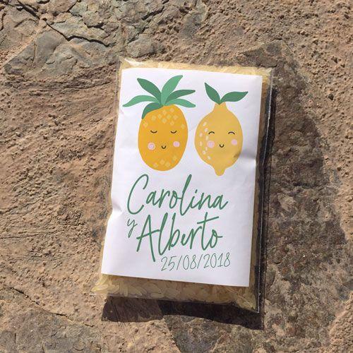 Bolsa para arroz diseño frutas