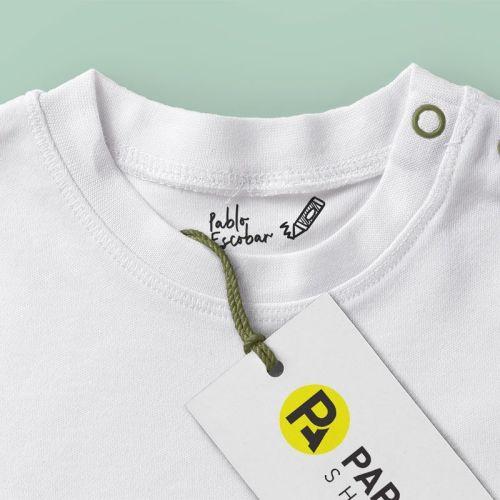 Sello textil Pablo Escobar detalle