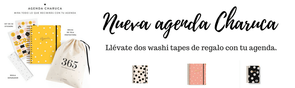 Agenda Charuca regalo washi tape