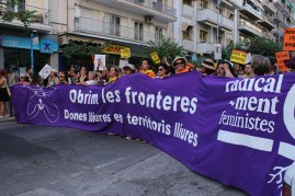 "Manifestación en Tesalónica ""Open the borders"" 21/7/2016"