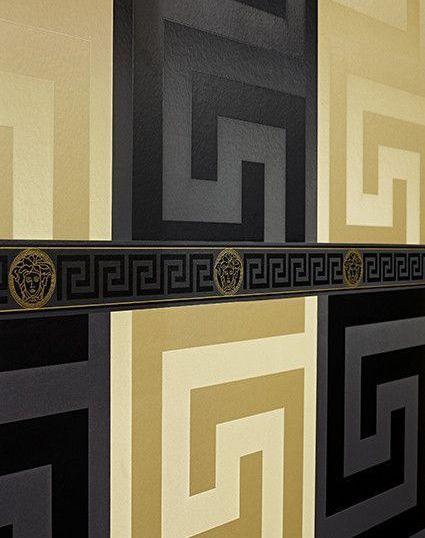 cache 36153147 - Papel pintado geométrico dorado de Versace rf. 93523-2