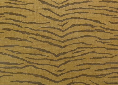 jua211 - Revestimiento mural de sisal oro y negro estampado tigre de la colección Jungle Ref. JUA211