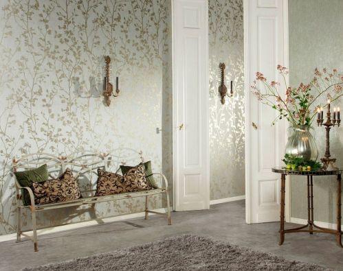 22829 Palazzo 1 - Revestimiento mural de ramas oro de la colección Palazzo Ref. PAL5057