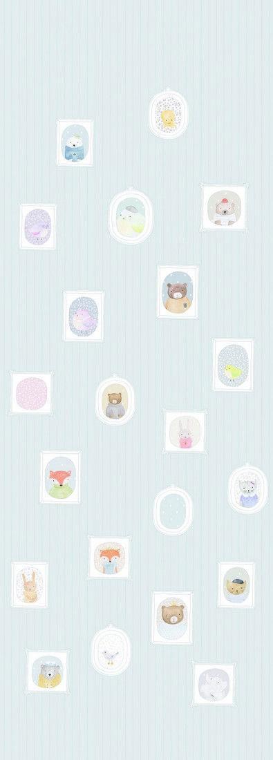 Panel infantil retratos My litlle world de Casadeco ref. MLW29896700