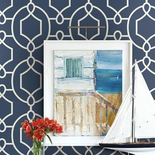 Papel pintado enrejado ornamental ref. YC61102