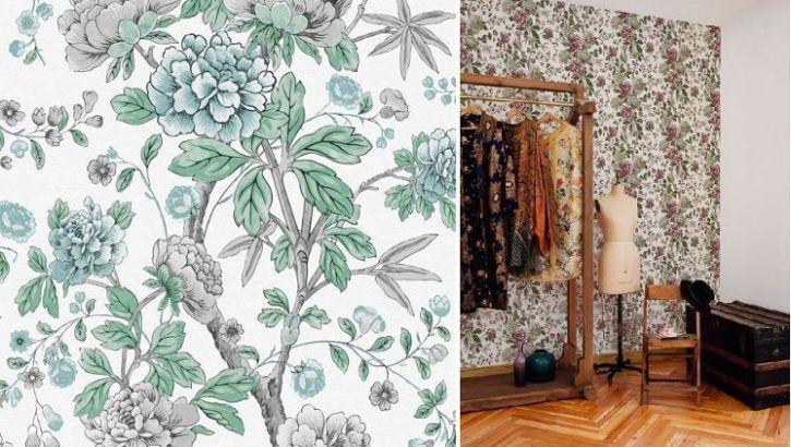 Papel decorativo floral Valentina